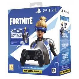 Dual Shock 4 Negro V2 + Voucher Fortnite - PS4